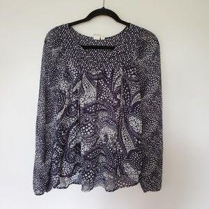 2/$30 Gap paisley blouse